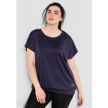 Große Größen: Jerseyshirt aus Funktionsmaterial, marine, Gr.44/46-56/58