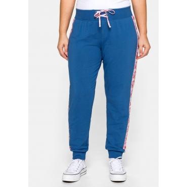 Große Größen: Jogginghose mit breitem Schlupfbund, blau, Gr.44-58