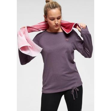 Große Größen: KangaROOS Langarmshirt, violett, Gr.44/46-56/58