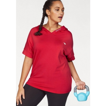 Große Größen: KangaROOS T-Shirt, rot, Gr.40/42-56/58