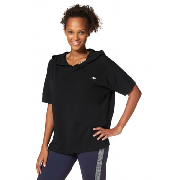Große Größen: KangaROOS T-Shirt, schwarz, Gr.40/42-56/58