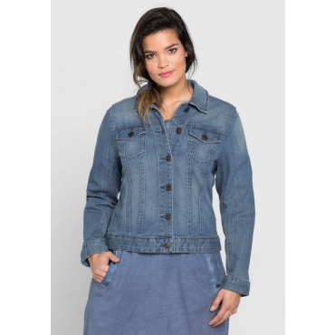 Große Größen: Klassische Jeansjacke, blue Denim, Gr.40-58