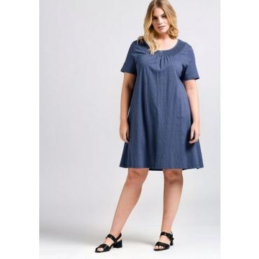 Große Größen: Kleid aus Baumwoll-Jersey, rauchblau, Gr.44-58