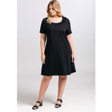 Große Größen: Kleid aus Baumwoll-Jersey, schwarz, Gr.44-58