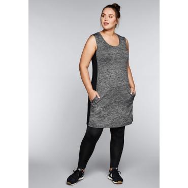 Große Größen: Kleid aus Funktionsmaterial, grau meliert, Gr.44-58