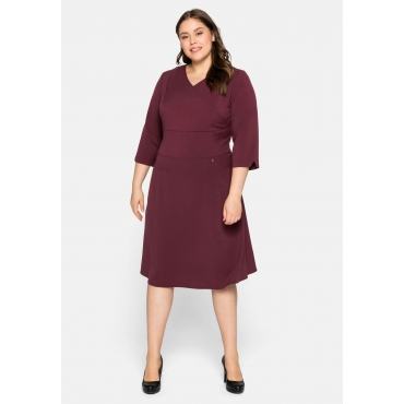 Kleid aus Interlock, mit Bodyforming-Effekt, bordeaux, Gr.44-58