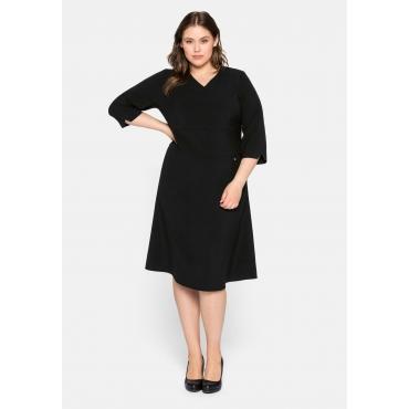 Kleid aus Interlock, mit Bodyforming-Effekt, schwarz, Gr.44-58