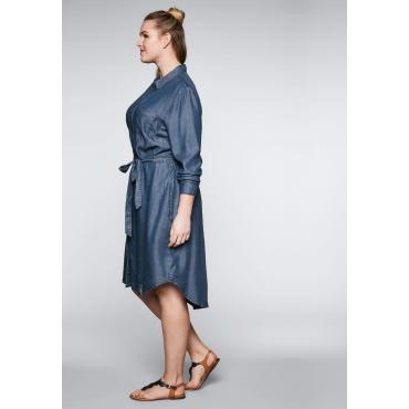 Große Größen: Kleid aus Lyocell in Denimoptik mit Taschen, blue Denim, Gr.44-58