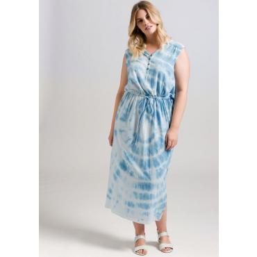 Große Größen: Kleid im Batik-Look, pastellblau, Gr.44-58