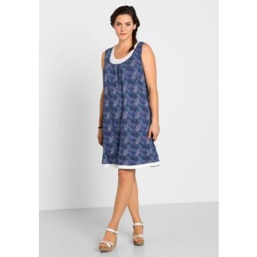 Große Größen: Kleid im Lagen-Look, blaubeere, Gr.40-58