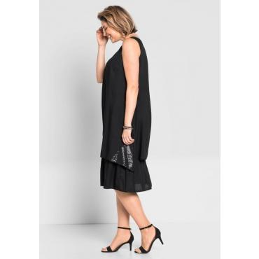 Große Größen: Kleid im Lagen-Look, schwarz (kurz), Gr.40-58