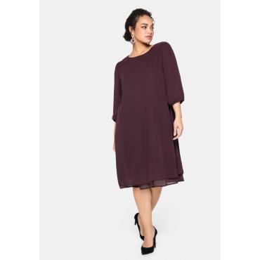 Kleid im Lagenlook, mit Chiffon, burgund, Gr.40-58