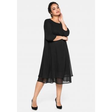 Kleid im Lagenlook, mit Chiffon, schwarz, Gr.40-58