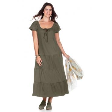 Große Größen: Kleid im Stufenschnitt, khaki, Gr.40-58