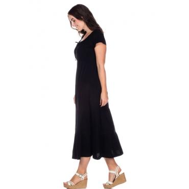 Große Größen: Kleid im Stufenschnitt, schwarz, Gr.40-58