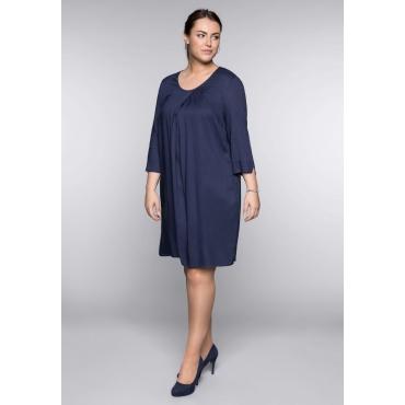 Große Größen: Kleid in A-Linie, marine, Gr.44-58