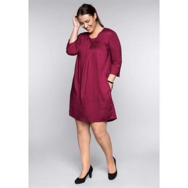 Große Größen: Kleid in A-Linie, rubinrot, Gr.44-58