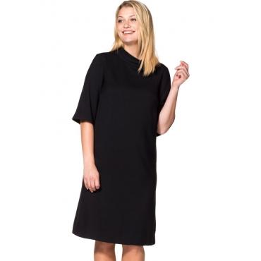 Große Größen: Kleid in A-Linie, schwarz, Gr.40-58