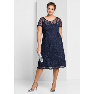 Große Größen: Kleid, marine, Gr.44-58
