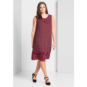 Große Größen: Kleid mit Allover-Paisleydruck, bordeaux bedruckt, Gr.44-58