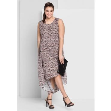Große Größen: Kleid mit Alloverdruck, rosé bedruckt, Gr.44-58
