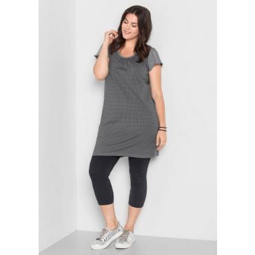 Große Größen: Kleid mit Alloverdruck, steingrau, Gr.40-58