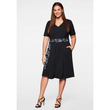 Kleid mit Bindegürtel aus Baumwoll-Modal, schwarz, Gr.44-58