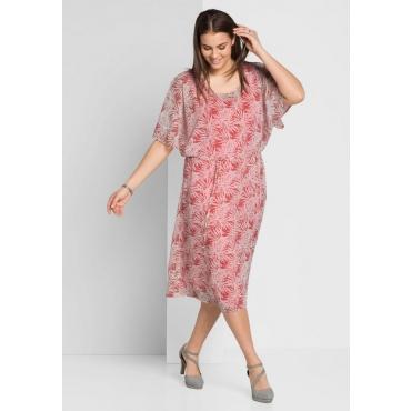 Große Größen: Kleid mit Fledermausärmeln, guave, Gr.44-58
