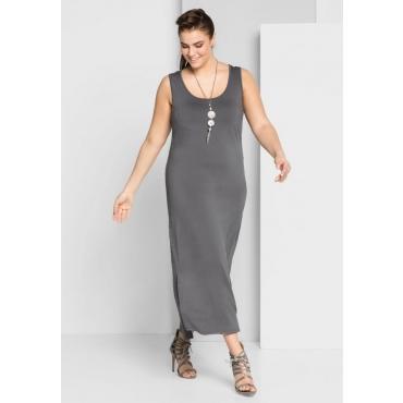 Große Größen: Kleid mit Häkelspitze, rauchgrau, Gr.44-58