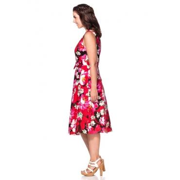 Große Größen: Kleid mit Herzausschnitt, mehrfarbig, Gr.40-58