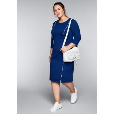 Große Größen: Kleid mit modischen Zierstreifen, royalblau, Gr.44-58