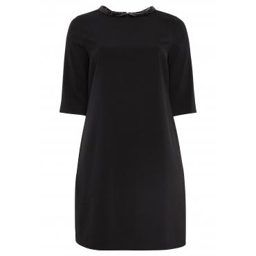Große Größen: Kleid mit Pailletten-Details, schwarz, Gr.44-58