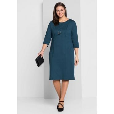 Große Größen: Jerseykleid mit Bodyforming-Effekt, dunkelpetrol, Gr.44-58