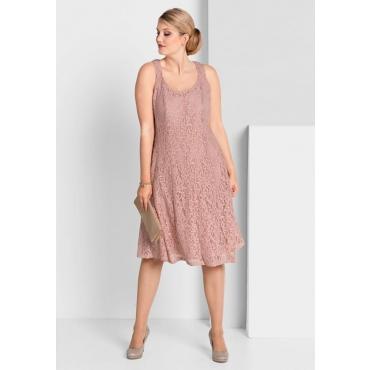 Große Größen: Kleid mit Spitze, puderrosé, Gr.40-58