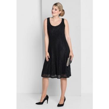 Große Größen: Kleid mit Spitze, schwarz, Gr.40-58