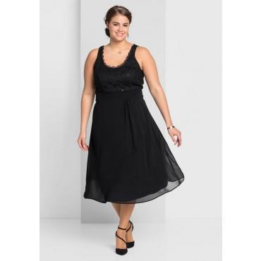 Große Größen: Kleid mit Spitze, schwarz, Gr.44-58