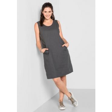 Große Größen: Kleid mit Taschen, dunkelgrau, Gr.40-58