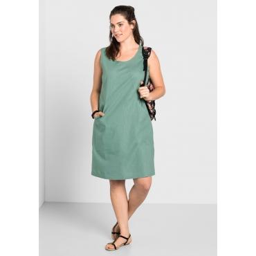 Große Größen: Kleid mit Taschen, jade, Gr.40-58