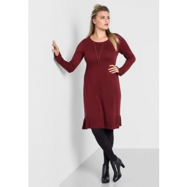 b61de946dec9ec Große Größen: Kleid mit Volants, bordeaux, Gr.40-58 | Online bei INCURVY