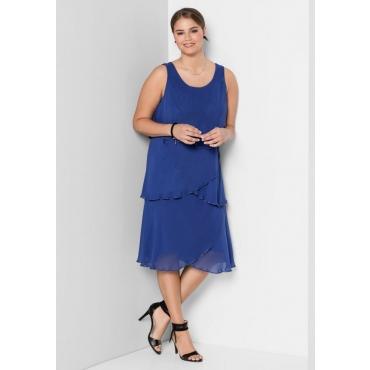 Große Größen: Kleid mit Volants, royalblau, Gr.40-58