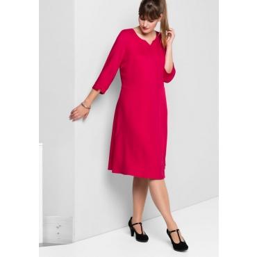 Große Größen: Kleid mit weit schwingendem Rockteil, dunkelpink, Gr.40-58