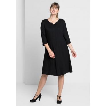 Große Größen: Kleid mit weit schwingendem Rockteil, schwarz, Gr.40-58
