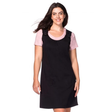 Große Größen: Kleid, schwarz, Gr.40-58