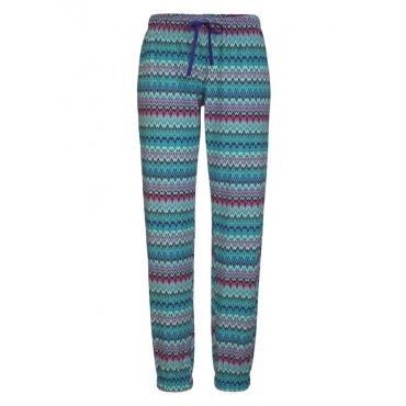 Große Größen: Petite Fleur Pyjamahose »Paradise« ideal zu kombinieren, Zick Zack, Gr.40/42-56/58