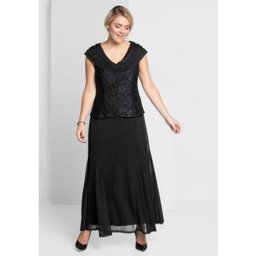 Große Größen: Abendkleid mit Spitze, schwarz, Gr.21-104