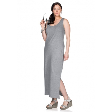Große Größen: Langes Shirtkleid, grau meliert, Gr.40-58