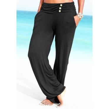 Große Größen: LASCANA Strandhose, schwarz, Gr.44-50
