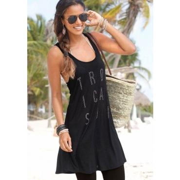 Große Größen: LASCANA Strandkleid, schwarz, Gr.40-54