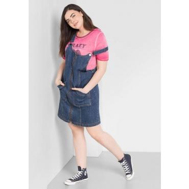 Große Größen: Latzkleid aus Jeans, blue Denim, Gr.44-58