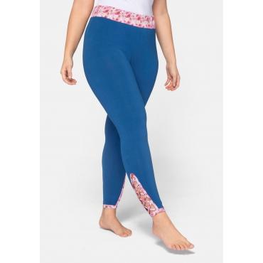 Große Größen: Leggings mit Cut-out und Schnürung, blau, Gr.44-58